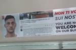 """Scarcerato dopo il borseggio impreca su Fb, manifesti sui bus: """"Non ti vogliamo"""""""