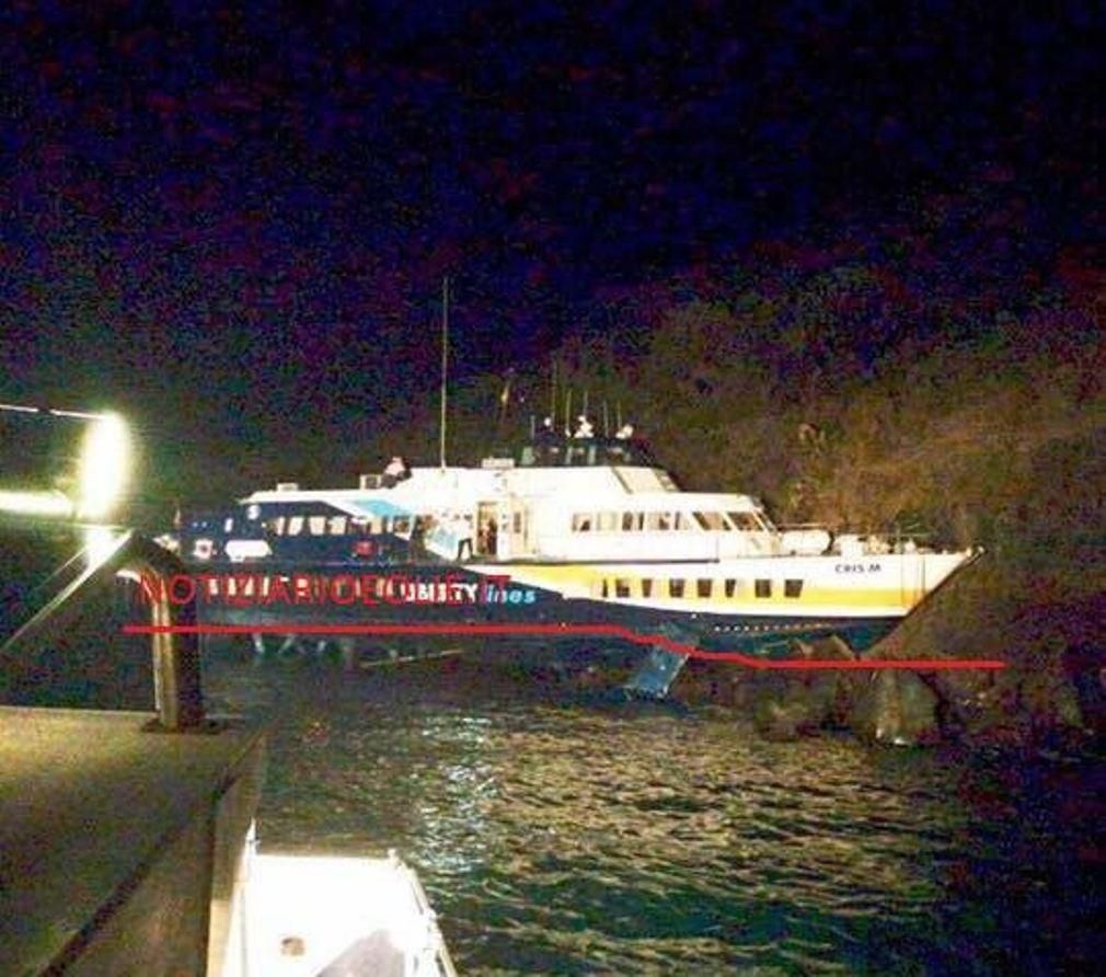 Lipari, aliscafo Liberty Lines sugli scogli di Monterosa: un ferito grave