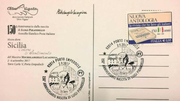 150 anni pirandello, annullo postale pirandello, Agrigento, Cultura