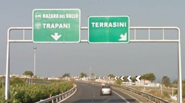 incendio A29, Trapani, Cronaca
