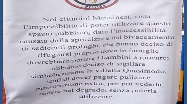 Comunità militante Messina, migranti, villetta quasimodo messina, Messina, Cronaca
