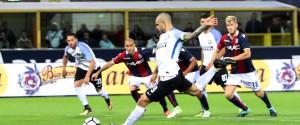 Primi punti persi per l'Inter, a Bologna salvata da un rigore di Icardi