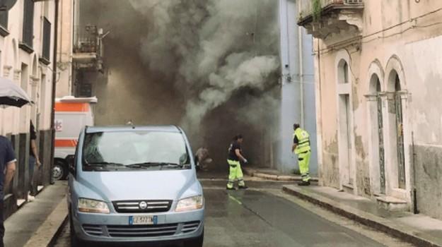 Incendio a Ragusa, Ragusa, Cronaca