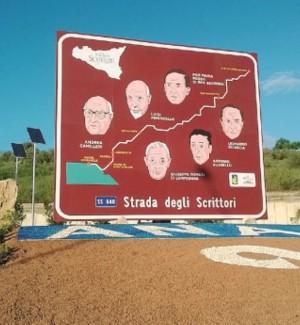 Rotonda degli scrittori ad Agrigento, strada interrotta: disagi alla viabilità