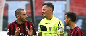 Il pari di Milan-Genoa, Bonucci espulso salta il match contro la Juve