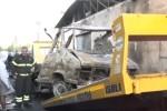 Camper esploso a Palermo, le immagini da via Al Fondo Cammineci