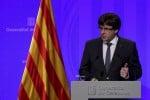 L'ex presidente della Catalogna, Carles Puigdemont