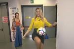 Diletta Leotta alle prese con una gara di palleggi: il video spopola sui social