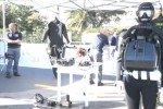 Moto d'acqua della polizia esposte a Mondello