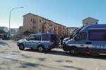 Blitz della polizia per liberare le case occupate di via Fani a Ribera