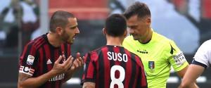 Tutte le dirette di serie A Pari del Milan, Bonucci espulso Juve in 10 avanti ad Udine