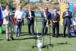 Lampedusa ha il suo campo di calcio, Tavecchio e Lotti all'inaugurazione