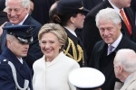 Hillary e Bill Clinton all'inaugurazione della presidenza Trump