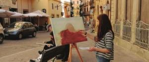 Via Atenea ad Agrigento trasformata in laboratorio d'arte
