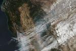 Gli incendi della California visti dai satelliti