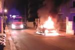 Auto in fiamme a Portopalo: è di un carabiniere