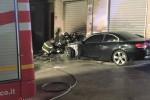 Auto a fuoco, notte di paura a Trapani