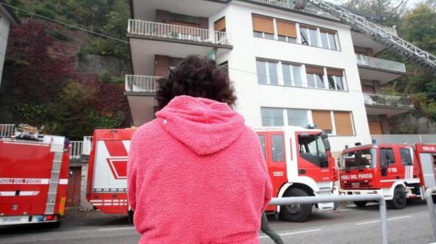 incendio padre como, Sicilia, Cronaca