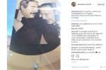 Alessia Marcuzzi a Palermo e il selfie con Falcone e Borsellino: migliaia di like in poche ore