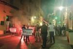 """Akragas """"esiliato"""", corteo di protesta dei tifosi"""
