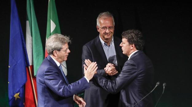 decennale pd, Matteo Renzi, Paolo Gentiloni, Walter Veltroni, Sicilia, Politica