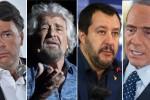 """Il weekend più """"caldo"""" a Palermo: Berlusconi, Salvini, Grillo e Renzi chiudono la campagna elettorale"""