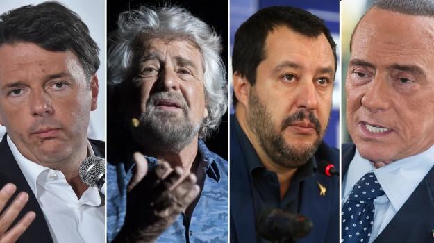 candidati presidenza regione sicilia, regionali sicilia 2017, Beppe Grillo, Matteo Renzi, Matteo Salvini, Silvio Berlusconi, Sicilia, Politica