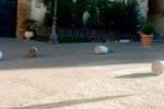 Vandali in azione in piazza Pirandello ad Agrigento