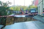 Guasto alla condotta idrica, nuovo smottamento in viale Savoca a Enna