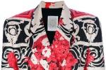 Giacca di Gianfranco Ferre' vintage in seta stampata con motivo di rose anni 90
