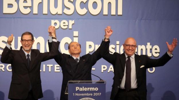 berlusconi a palermo, forza italia, impresentabili, regionali sicilia 2017, Gianfranco Miccichè, Nello Musumeci, Silvio Berlusoni, Sicilia, Politica