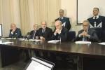 Un momento della conferenza stampa sull'operazione