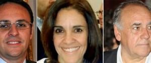 Da sinistra: Vincenzo, Sabrina e Angelo Figuccia
