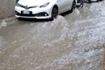 Piove a Palermo, impraticabile la via Porta di Castro
