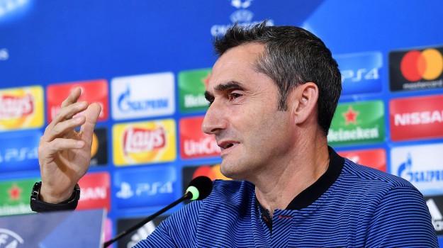 """Messi in panchina, parla il tecnico Valverde: """"Doveva riposare"""""""