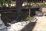 Palazzina Cinese, crolla una parte del muro di cinta – Video