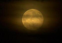 Eclissi di luna su Madrid