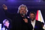 Beppe Grillo a Palermo a chiusura della campagna elettorale per le Regionali del 5 novembre