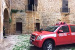 Castelvetrano, in fiamme un palazzo di proprietà di Becchina