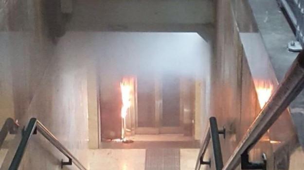 incendio stazione bagheria, Palermo, Cronaca