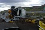 Camion si ribalta sulla Palermo-Catania, ferito l'autista - Foto