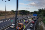 Traffico in tilt dopo l'incidente mortale in autostrada a Villabate - le foto