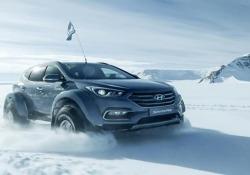 L'impresa di Patrick BergelCon la Hyundai Santa Fe in Antartide