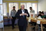 Il presidente della Repubblica Sergio Mattarella dopo aver votato per le elezioni regionali in Sicilia