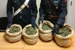 Scoperti quattro chili di marijuana a Mazzarino, due arresti