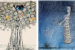 Due delle opere di Liliana Conti Cammarata esposte fino al 27 novembre a Palazzo Sant'Elia