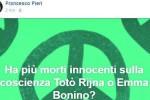 """""""Ha più innocenti sulla coscienza Riina o la Bonino?"""": frase choc di un sacerdote"""