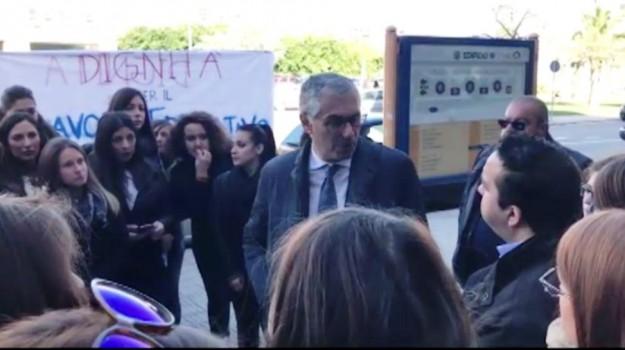 Protesta degli educatori pedagogisti a Palermo