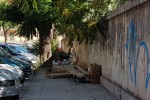 Rifiuti vicino al villino Florio a Palermo