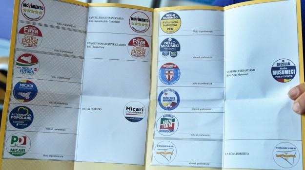 foto scheda elettorale, regionali sicilia 2017, Sicilia, Cronaca